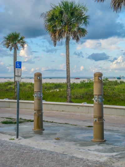 The showers at Gulf Front Park on Treasure Island Beach.