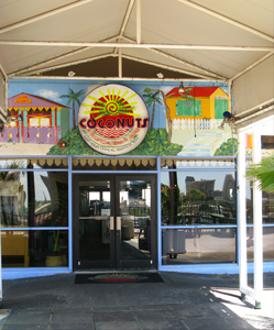 cha cha coconuts entrance st pete pier