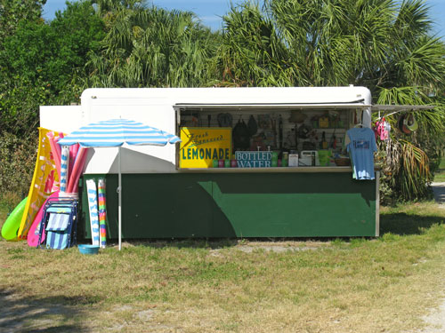 concession stand at the fort desoto dog beach