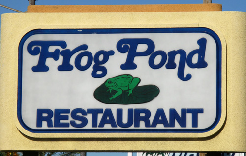 breakfast at the frog pond restaurant