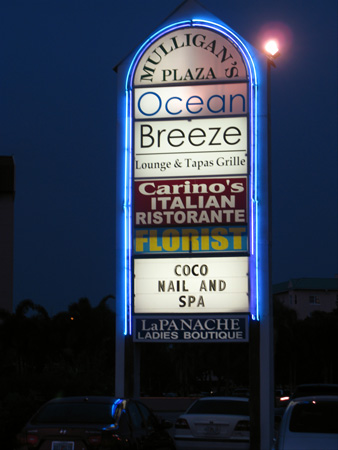 the ocean breeze lounge has great nightlife with live bands