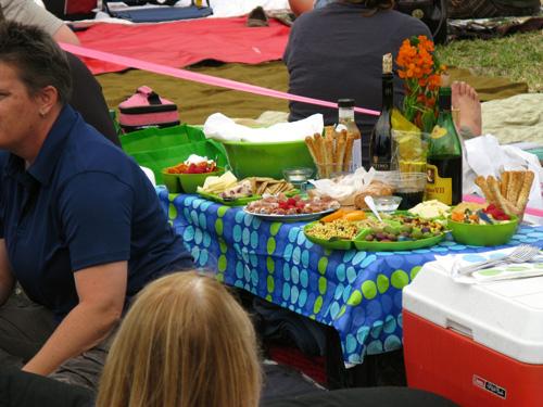 rocky horror show elaborate picnic spread