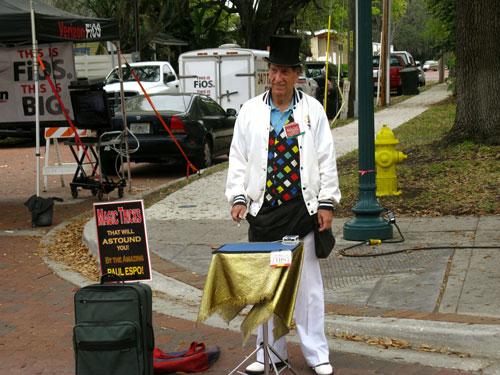 safety harbor florida chalk art contest street magician