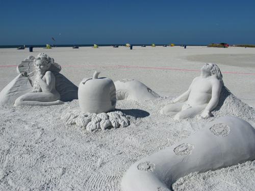 sand sculpture contest 2010 treasure island florida rusty croft piece sand sculpture detail