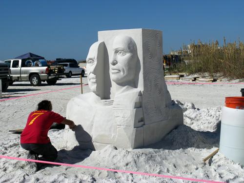 sand sculpture contest 2010 treasure island florida benjamin probanza