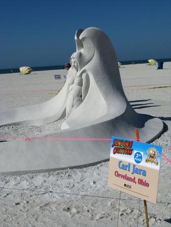 sand sculpture contest 2010 treasure island florida carl jara piece sand sculpture