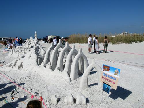 sand sculpture contest 2010 treasure island florida chris guinto