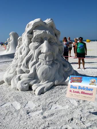 sand sculpture contest 2010 treasure island florida dan belcher piece sand sculpture detail