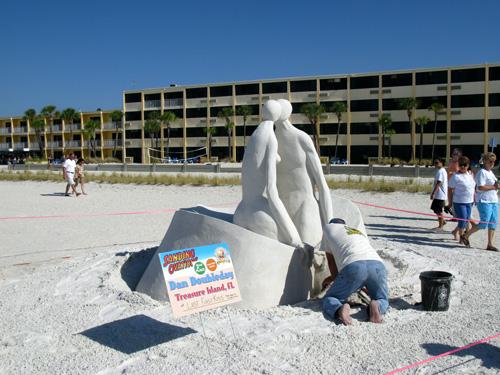 sand sculpture contest 2010 treasure island florida dan doubleday