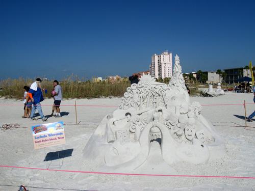 sand sculpture contest 2010 treasure island florida lucinda wierenga piece finsihed sand sculpture piece