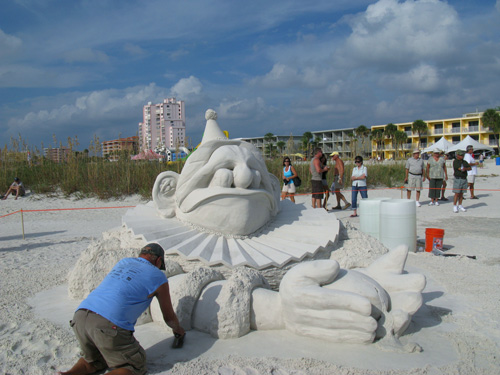 Dan Doubleday. 1st Prize of $3000 in the Treasure Island Sand Sculpture Contest.