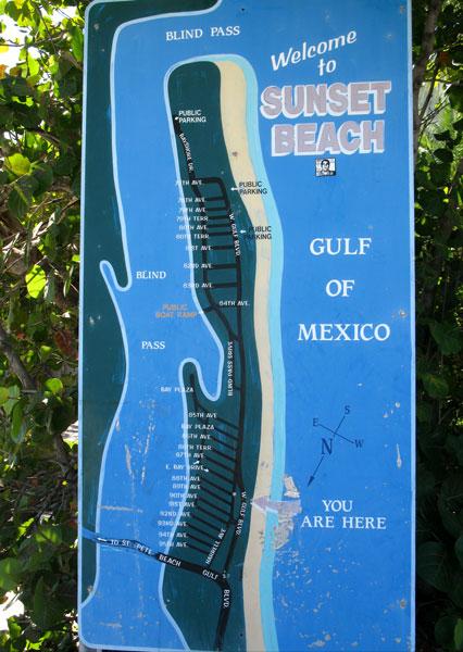 Treasure Island Florida Map.Sunset Beach Florida Treasure Island Sunset Beach Spring Break