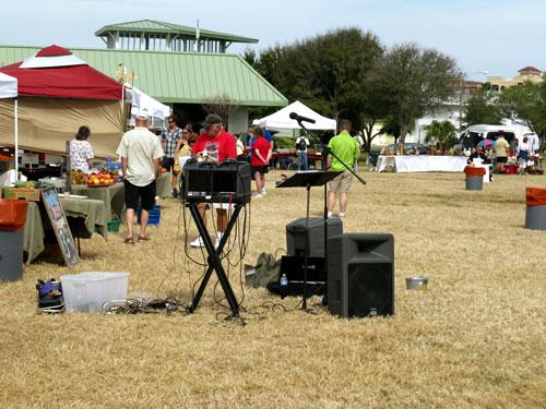 the treasure island open air market karaoke machine