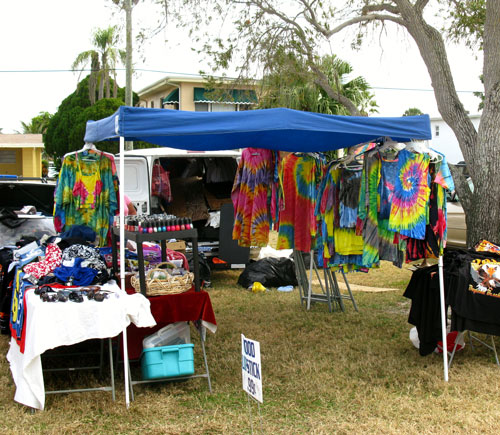 the treasure island open air tie-dyed shirts