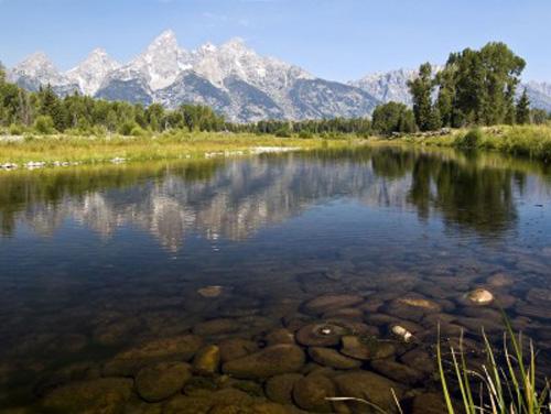 A beautiful view of Grand Teton National Park.