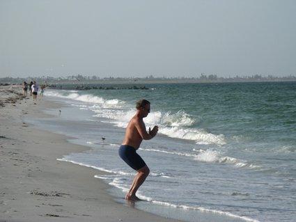 beach workout yoga