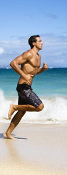 Beach running to lose weight must be varied and done with common sense.