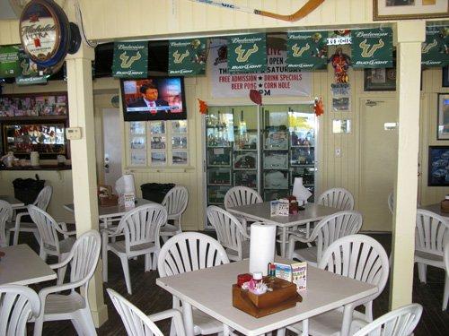 breakfast at caddys on gulf blvd in treasure island florida inside seating