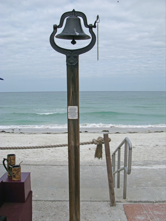 the bell at breakfast at paradise grille on pass-a-grille beach