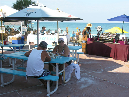 customers enjoying breakfast at paradise grille on pass-a-grille beach