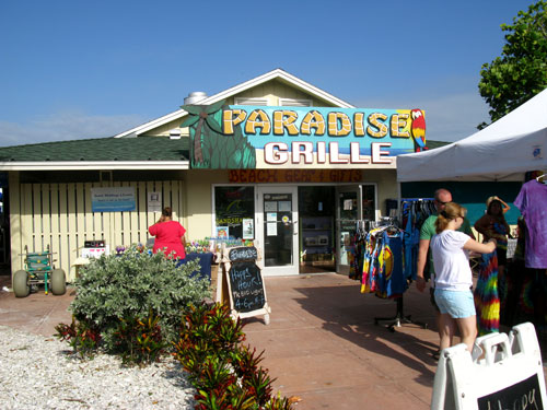 breakfast at paradise grille on pass-a-grille beach