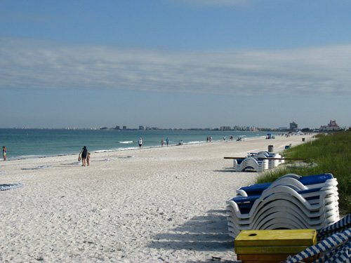 view from our table breakfast at paradise grille on pass-a-grille beach