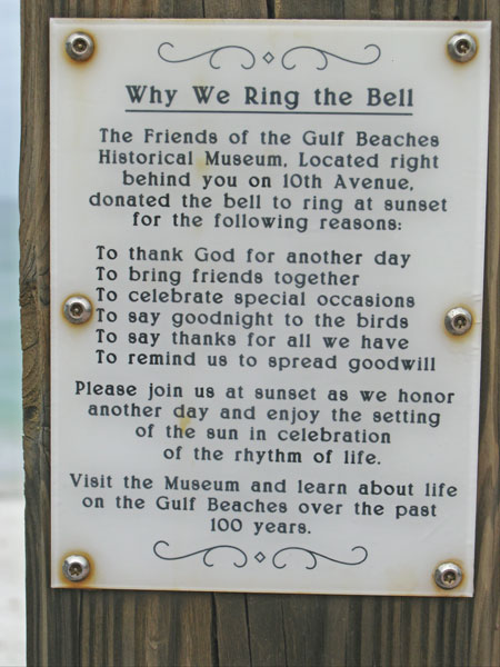 why ring bell at breakfast at paradise grille on pass-a-grille beach