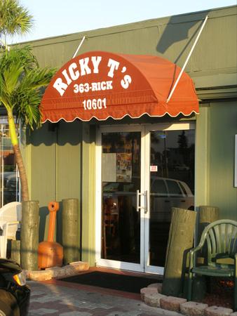 breakfast at ricky t's treasure island florida door to inside seating
