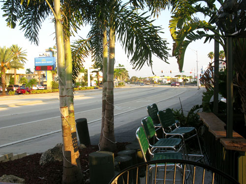 breakfast at ricky t's treasure island florida looking north on gulf blvd