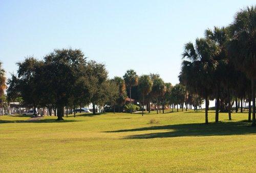 demens landing park has a huge grassy area in downtown st petersburg florida