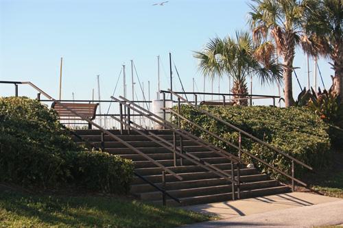 demens landing park marina observation deck in downtown st petersburg florida