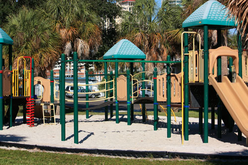 demens landing park playground in downtown st petersburg florida