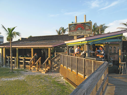 Dinner At Jimmy B's Beach Bar