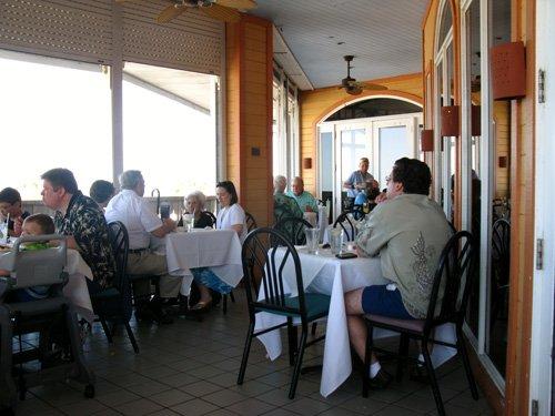 hurricane restaurant 2nd floor outside seating on the veranda