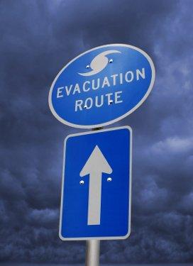 florida hurricane season evacuation sign