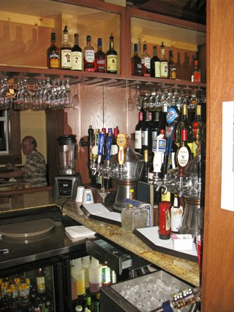 dinner at grayls hotel beer station