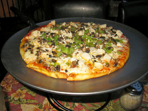 dinner at grayls hotel pizza