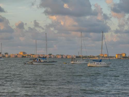 Sunrise over Boca Ciega Bay in Gulfport FL.