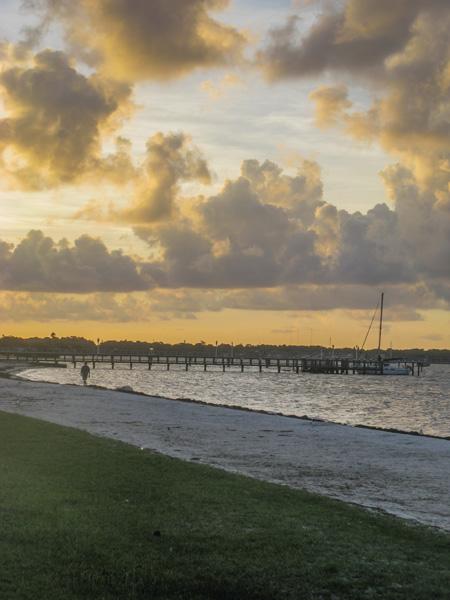 Walking on the beach in Gulfport FL