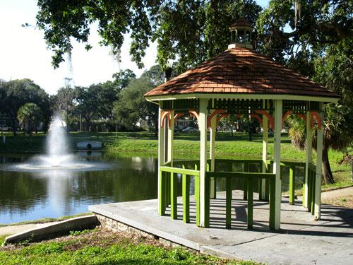 historic round lake park gazebo