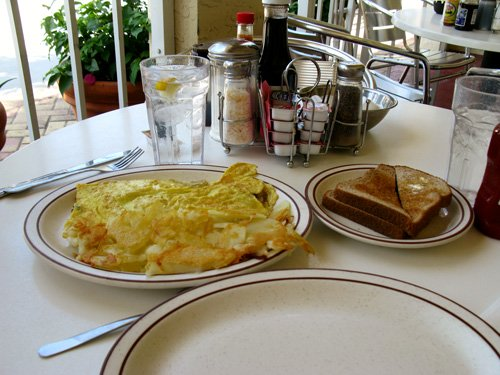 we had the garden omelet at jbs island cafe on clearwater beach