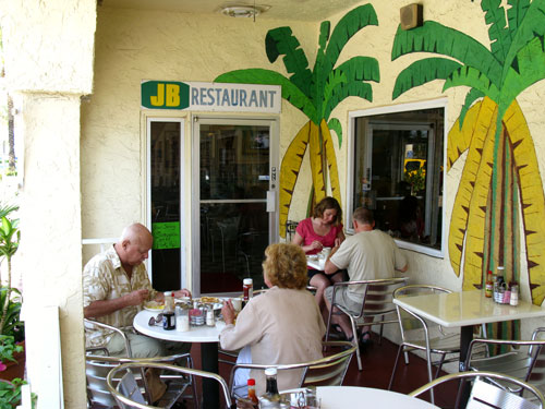 jbs island cafe has outside patio seating in the beautiful florida sea air