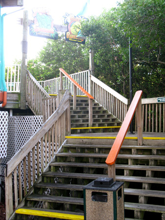 breakfast at jimmy guanas indian rocks beach fl stairs to second floor patio deck