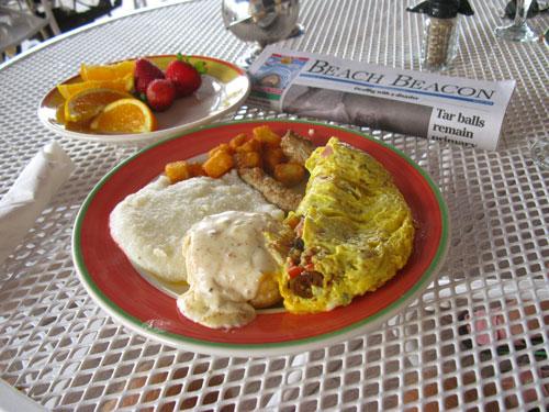 a filling breakfast at the mangos restaurant brunch on north redington beach fl