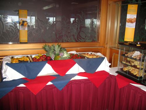 the fresh fruit station at the mangos restaurant brunch on north redington beach fl