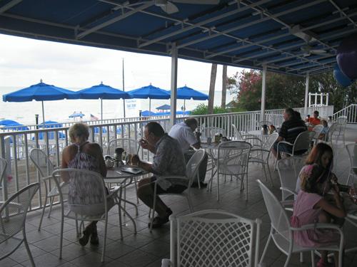 patio seating at the mangos restaurant brunch on north redington beach fl