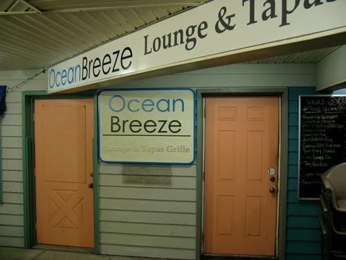 ocean breeze restaurant is an upscale eatery offering tapas cuisine