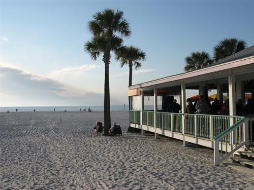 palm pavilion restaurant enjoying the beach