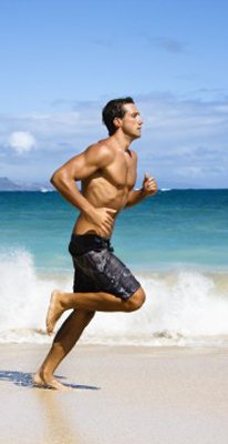 Rumble Roller benefits guys who train on the Florida beaches.