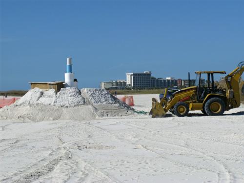 sand sculpture contest 2010 treasure island florida building the centerpiece